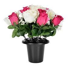 graveside flowers homescapes white pink grave flowers roses rosebuds mix in grave