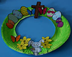 easy easter wreath for kids to make ofamily learning together