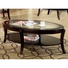 espresso beveled glass coffee table oval glass coffee console sofa end tables for less overstock com
