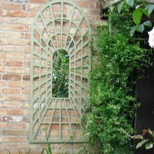 wooden garden mirrors