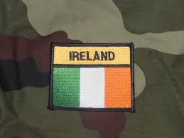 Military Flag Patch Irish Defence Forces Large Size Ireland Tricolour Patch Gbf