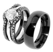 wedding ring sets south africa jewelry rings black wedding ring sets matching band his and hers