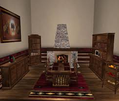 Log Cabin Dining Room Furniture Second Life Marketplace Special Sale Price Menu Driven Dining
