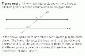 transversal geometry kwiznet math science english homeschool