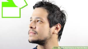 hair cuts to increase curl and volume 3 ways to add volume to hair for men wikihow