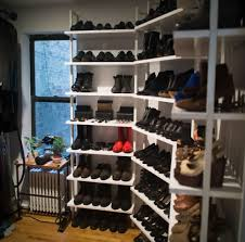 diy shoe rack for closet