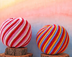 knitted balls etsy