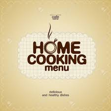 home cooking menu design template royalty free cliparts vectors