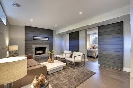 modern basement design quebec