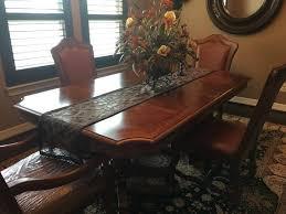 stanley pedestal dining table stanley furniture double pedestal dining table with two leaves