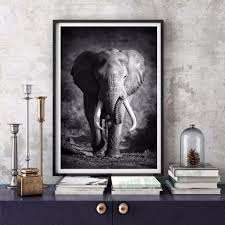 Elephant Decor For Living Room by Compare Prices On Wall Art Painting Elephant Black Online