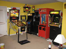 Basement Game Rooms Fun Video Game Room Design Idea In Basement With Retro Consoles