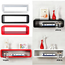 Bedroom Wall Storage With Tv Set Of 3 Retro Wall Square Floating Cube Wall Storage Shelves
