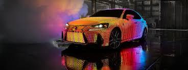 lexus sedan harga lexus unveils led covered lit is with premiere of dua lipa u0027s u201cbe