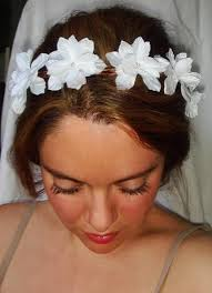 white flower headband weddings white flower crown headband headpiece lyla flower