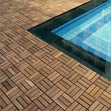 outdoor deck tiles garden solid teak wood flooring with plastic