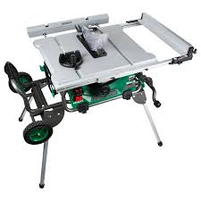 hitachi table saw review c10rj 10 jobsite table saw w fold roll stand