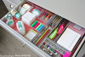 How To Organize Desk Remodelaholic Tricks For Organizing Desk Drawers