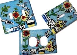 painted light switch covers retro garden acrylic hand painted light switch covers garden