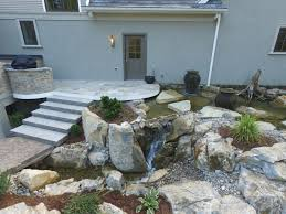 amazing backyard pond c e pontz sons landscape contractors