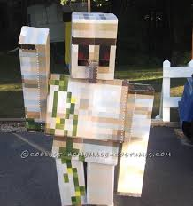 minecraft costumes cool diy cardboard box costumes minecraft iron golem and