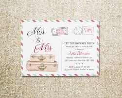 travel themed bridal shower travel bridal shower travel invitations miss to mrs invite