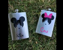 his and hers flasks disney flask etsy
