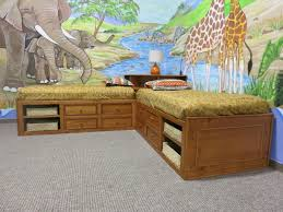 wonderful kids room decorating with jungle theme wallpaper design