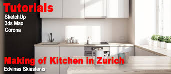 traditional white kitchen design 3d rendering nick making of kitchen in zurich by edvinas skiestenis sketchup 3d