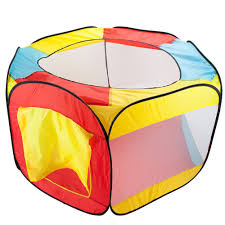 amazon com hexagon pop up ball pit tent with mesh netting and