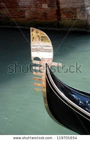 ornaments on front prow ferro gondola stock photo 119701654