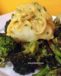 moroccan cod with roast broccoli meatified