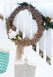 easy diy burlap christmas wreath