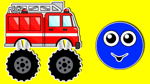 monster trucks videos for kids monster fire truck learning colors teaching colours for kids