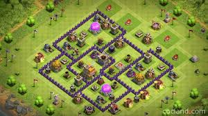 layout design th7 town hall 7 hybrid base clash of clans land