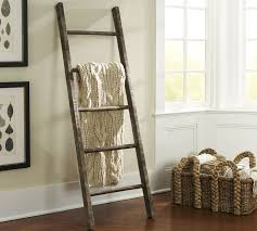 pb found wood ladder pottery barn