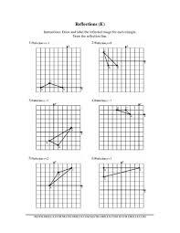 translation rotation reflection worksheets math drills marvellous