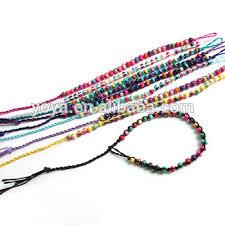 macrame bracelet with beads images Fl0893 fashion small wood beads macrame bracelet cheap braided jpg