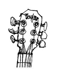 guitar outline template clipart panda free clipart images