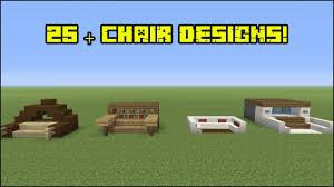 minecraft furniture 25 chair designs youtube