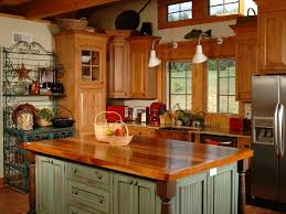 dazzling farmhouse kitchen with wooden kitchen cabinet and green