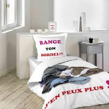 range ta chambre com housse de couette 140x200 parure de lit 1 personne range ton bordel