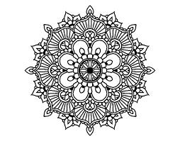 mandala floral flash coloring coloringcrew