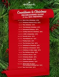 hallmark christmas movie schedule