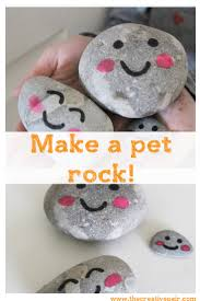 how to make a pet rock kids sewing rock craft and rock painting