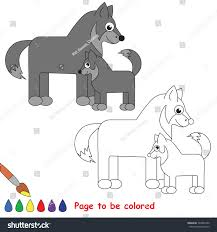wolf mother baby colored stock vector 729834730 shutterstock