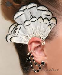 how to make feather ear cuffs 20 best ear cuff images on ear cuffs earrings and ears