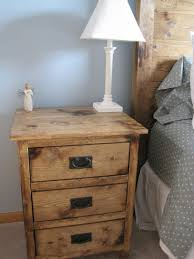 How To Make A Wooden Bedside Table by Ana White Reclaimed Wood Look Bedside Tables Diy Projects