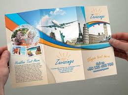 vacation brochure template travel trifold brochure template