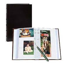 4x6 photo book pioneer clb346 black sewn leather photo album 4x6 300 clb346 bk